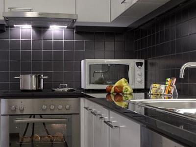 Cuisine moderne dans une appartement de luxe l 39 h tel for Appart hotel 5 etoiles