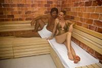 Sauna in the new 5* Azur Premium Hotel in Siofok