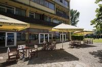 Hotel Familia in Balatonboglar with terrace and own beach