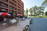 Terrace of Hotel Napfeny in Balatonlelle