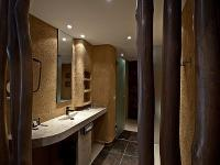 African style modern bath room in the Hotel Bambara in Felsotarkany, in the Bukk hills in Hungary