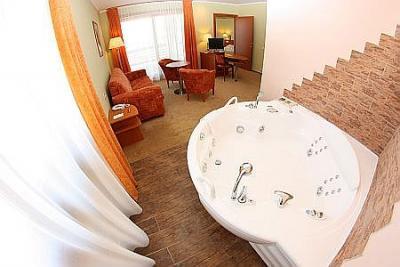 Hotel aquarell cegled habitacion de hotel con jacuzzi a for Precio habitacion hotel