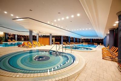 Spa wellness hotel  Swimming pool of Greenfield Spa Hotel Bukkfurdo, Hungary, neart to ...