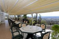 Panoramic terrace in Hotel Budai - accommodation for a short weekend in Budapest