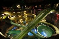 Water slides in the Aquapark of Demjen - Hotel Cascade
