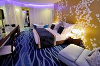 Romantic hotelroom of Hotel Cascade Resort in Demjen at discount prices