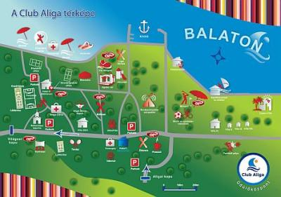 balatonvilágos térkép Balatonaliga Club Aliga   map of the holiday complex in  balatonvilágos térkép