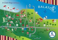 Balatonaliga Club Aliga - map of the holiday complex in Balatonvilagos - Hotel Club Aliga