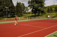 Tennis court in Tarcal in Grof Degenfeld Castle Hotel