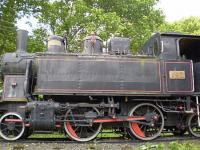 Hotel Boglar Balatonboglar - locomotive in the park of the former Lokomotiv Hotel
