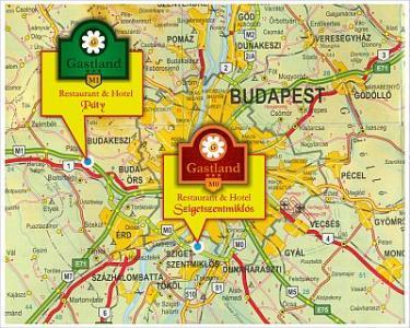 Hotel Gastland M0 Szigetszentmiklos Map
