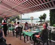 Hotel Helikon Keszthely at lake Balaton, Hungary - beautiful restaurant with view the lake