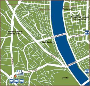 budapest hotel mediterran stadtplan