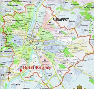 budapest szállás térkép 3 csillagos Hotel Regina Budapest   térkép budapest szállás térkép