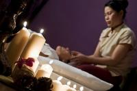 Thai-massage in the wellness area of the wellness Hotel Kapitany in Hungary in Sumeg