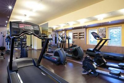 salle de fitness moderne l 39 h tel novotel sz kesfeh rvar. Black Bedroom Furniture Sets. Home Design Ideas