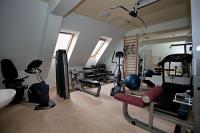 Fitness room of Hotel Obester in Debrecen