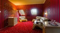 Luxury room of Hotel Obester in the downtown of Debrecen for the Flower Carnival