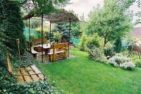 English garden of Panorama Hotel Eger - cheap accommodation in Eger