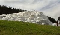 Snowwhite salt hill with small terraces and thermal water in Egerszalok - Saliris Resort Spa and Conference Hotel in Hungary