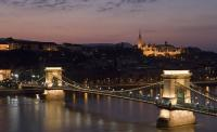 Hotell Sofitel Chain Bridge i Budapest men panoram utsikt