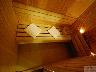 Finnish sauna of Hotel Sunshine for guests searching  for relaxation - Hotel Sunshine Budapest - cheap hotel next to Kobanya-Kispest suwbay stop in Budapest