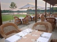 Terrace with panoramic view to Lake Tisza, Tisza Balneum thermal Hotel