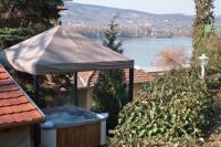 jacuzzi with panoramic view in Visegrad in Var Wellness Hotel