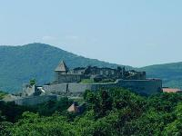 Visegrad Castle with beautiful panoramic view to the forest and Danube in Visegrad