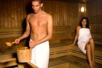 Finnish sauna in Thermal Hotel Visegrad in close to Budapest