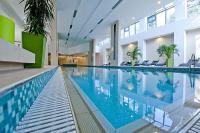 Swimming pool in Abacus Wellness Hotel in Herceghalom