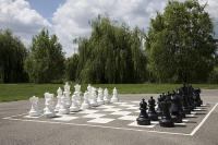 Outdoor chessboard in Hotel Zichy Park - active relaxing in Bikacs, Hungary